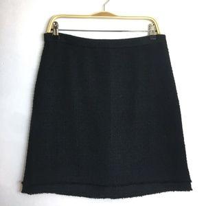 J. Crew Black Boucle Tweed Pencil Skirt 8